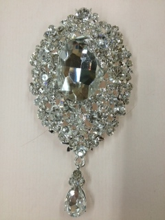 BRO-RHS-009-CLEARCRYSTAL.  CLEAR CRYSTAL RHINESTONE BROOCH