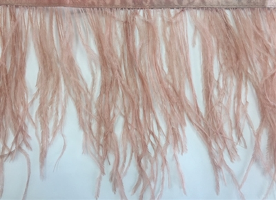 FTR-OST-100-NUDE. Ostrich Feather Nude - 7 INCH