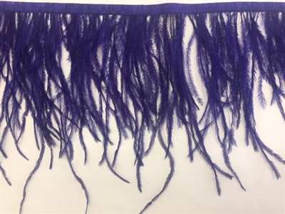 FTR-OST-100-PURPLE. Ostrich Feather Purple - 7 INCH