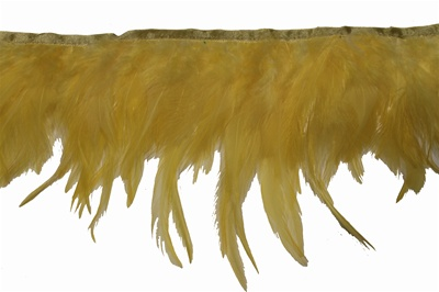 "FTT-ROO-101-YELLOW.  5.0""-wide Rooster Feather On Tape"