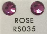 Flat Back / No-Glue Loose Crystal Rhinestone - Rose