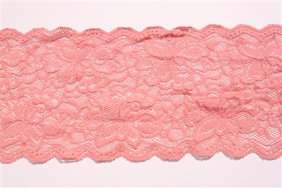 "LST-REG-117-DARKPEACH.  6.0""-wide Stretch Lace"