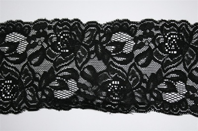 "LST-REG-372-BLACK.  3.0""-wide Stretch Lace"