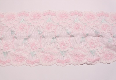 "LST-REG-604-PINK.  6.0""-wide Stretch Lace"