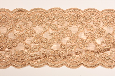 "LST-REG-605-CAMEL.  6.0""-wide Stretch Lace"