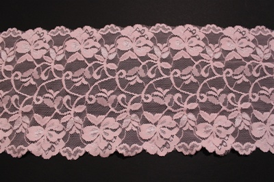 "LST-REG-606-PINK.  6.0""-wide Stretch Lace"