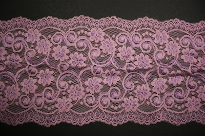"LST-REG-610-LAVENDER.  6.0""-wide Stretch Lace"