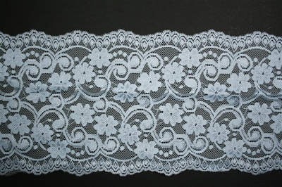 "LST-REG-610-LIGHTBLUE.  6.0""-wide Stretch Lace"