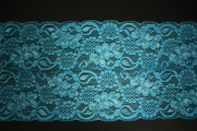 "LST-REG-611-AQUAMARINE.  6.0""-wide Stretch Lace"