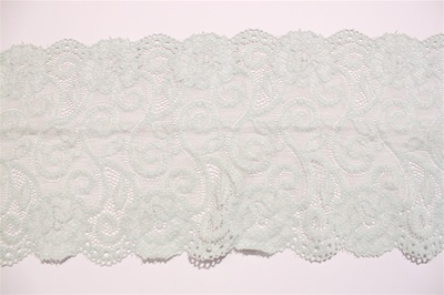 "LST-REG-617-LIGHTGREEN.  6.0""-wide Stretch Lace"