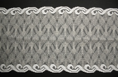 "LST-REG-618-GREY.  6.0""-wide Stretch Lace"