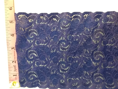LST-REG-620-BLUE.  STRETCH LACE 6 INCH WIDE