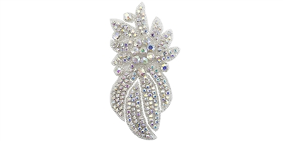 RHS-APL-468S-AB.  AB Crystal Rhinestone Applique - Small