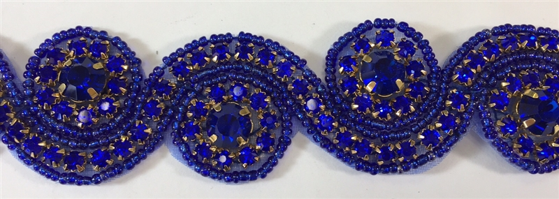 Rhs Trm 1152 Royalblue Royal Blue Crystal Rhinestone Trim