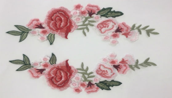 Floral Embroidery Patches