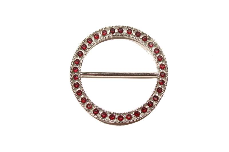 BKL-RHS-135-red.  RHINESTONE BUCKLE