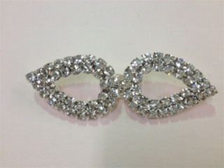 CLZ-RHS-003.  CRYSTAL RHINESTONE CLOSURE.  2.25 X 0.75 INCHES