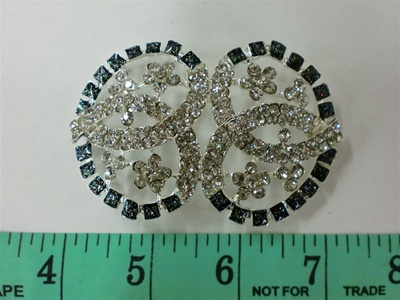 CLZ-RHS-004.  CRYSTAL RHINESTONE CLOSURE.  3 X 2 INCHES