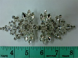 CLZ-RHS-005.  CRYSTAL RHINESTONE CLOSURE.  5 X 2 INCHES