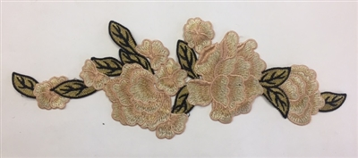 FLR-APL-005. Sew-On Floral Embroidery Applique Patch