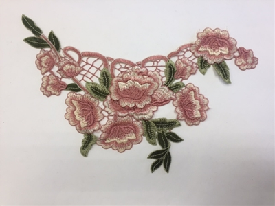 FLR-APL-012. Sew-On Floral Embroidery Applique Patch