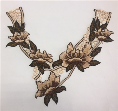 FLR-APL-013. Sew-On Floral Embroidery Applique Patch