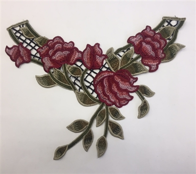 FLR-APL-014. Sew-On Floral Embroidery Applique Patch