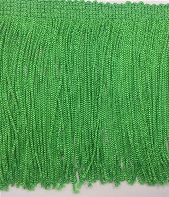 FRI-RAY-104STR-APPLE GREEN. 4 INCH Stretch Rayon Fringe - Apple Green