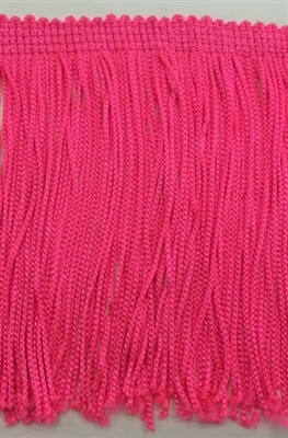 FRI-RAY-104STR-FUCHSIA. 4 INCH Stretch Rayon Fringe - Fuchsia