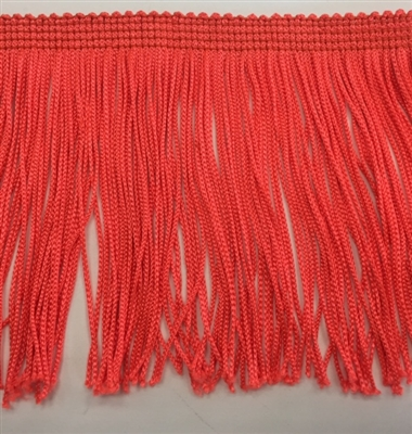 FRI-RAY-104STR-ORANGE. 4 INCH Stretch Rayon Fringe - Orange