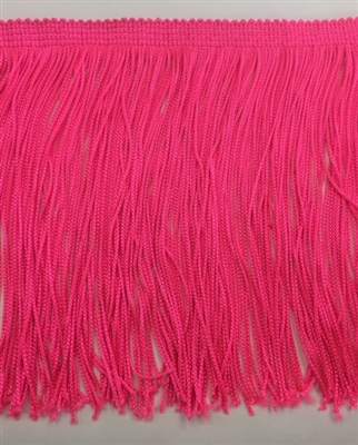 FRI-RAY-106STR-FUCHSIA. 6 INCH Stretch Rayon Fringe - Fuchsia