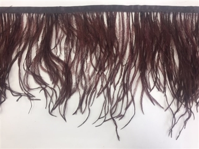 FTR-OST-100-BROWN. Ostrich Feather Brown - 7 INCH