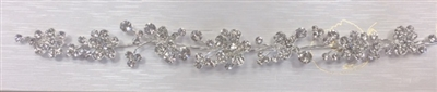 HDP-102-SILVER-CRYSTAL. WHOLESALE HEAD-PIECE, CLEAR CRYSTALS WITH SILVER BACKING ON A COMB