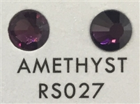 Flat Back / No-Glue Loose Crystal Rhinestone - Amethyst