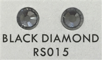 Flat Back / No-Glue Loose Crystal Rhinestone - Black Diamond