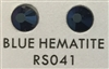 Premium Hot Fix Rhinestone - Blue Hematite