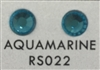 Low-Lead Machine Cut (MC) Hot Fix Rhinestone - Aquamarine