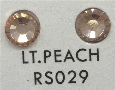 Low-Lead Machine Cut (MC) Hot Fix Rhinestone - Lite Peach