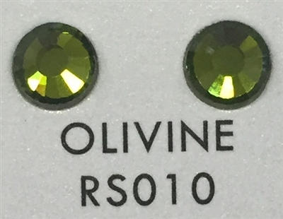 Low-Lead Machine Cut (MC) Hot Fix Rhinestone - Olivine