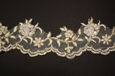 LNS-BBE-174.  Bridal Lace with Beads