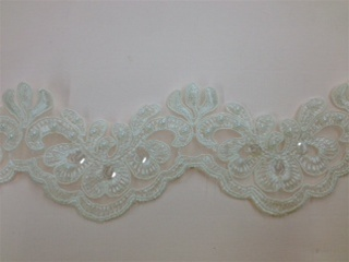 LNS-BBE-192-OFFWHITE.  BRIDAL BEADED LACE
