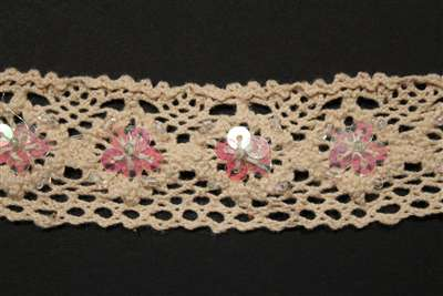 LNS-CRO-101-ABNATURAL.  Crochet Lace