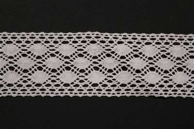 LNS-CRO-109-WHITE.  Crochet Lace