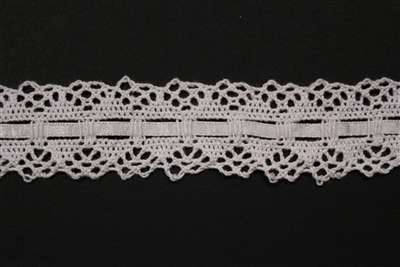 LNS-CRO-118-WHITE.  Crochet Lace