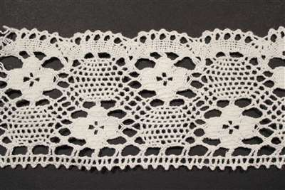 LNS-CRO-126-WHITE.  Crochet Lace