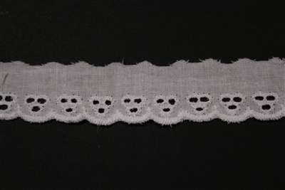 "LNS-EYL-115-WHITE.  1.0""-wide Eyelet Lace"