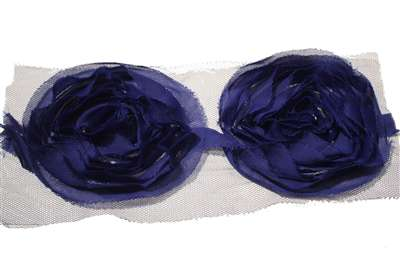 LNS-FLR-103-ROYALBLUE.  Non-Stretch Floral Lace
