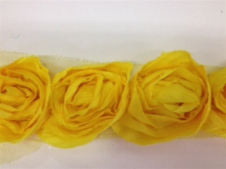 LNS-FLR-112-YELLOW.  Non-Stretch Floral Lace