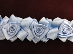 LNS-FLR-144-BLUE.  Floral Lace/Trim
