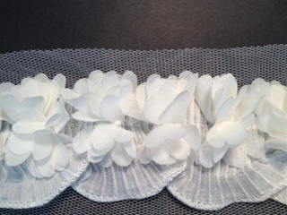 LNS-FLR-150-WHITE.  NON-STRETCH FLORAL LACE